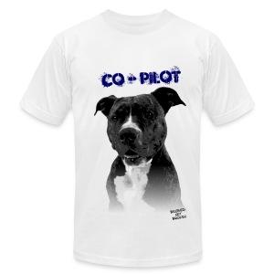 Co-Pilot Men's Tee (White) - Men's Fine Jersey T-Shirt
