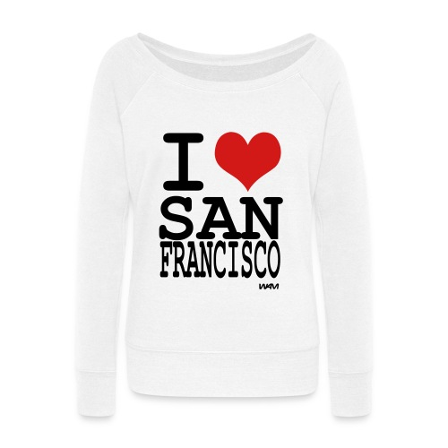 i love San Francisco - Women's Wideneck Sweatshirt