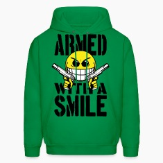 Armed with a smile Hoodies