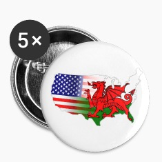 Welsh American Flag Buttons