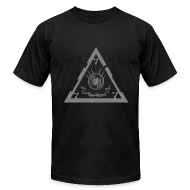T-Shirts ~ Men's T-Shirt by American Apparel ~ TRIANGLE dark ts