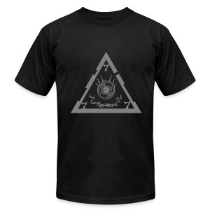 TRIANGLE dark ts - Men's T-Shirt by American Apparel