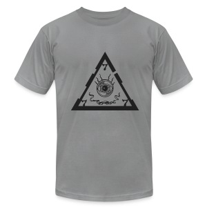 TRIANGLE light ts - Men's T-Shirt by American Apparel