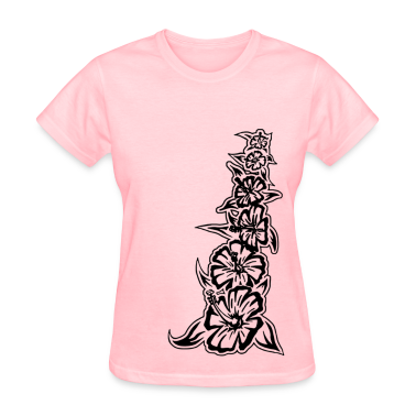 flower tower black Women's T-Shirts