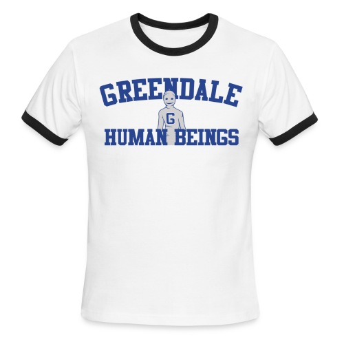 Greendale Human Beings - Men's Ringer T-Shirt