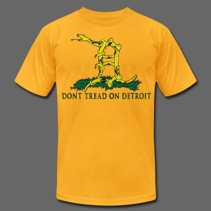 Dont Tread on Detroit Men's T-Shirt by American Apparel - Men's T-Shirt by American Apparel