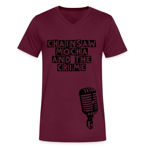 V-neck Microphone - Men's V-Neck T-Shirt by Canvas