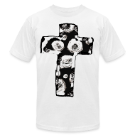 T-Shirts ~ Men's T-Shirt by American Apparel ~ Mens New Religion Rose Cross Street Style T-Shirt