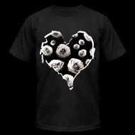 T-Shirts ~ Men's T-Shirt by American Apparel ~ Mens Rose Heart Street Style Fashion T-Shirt