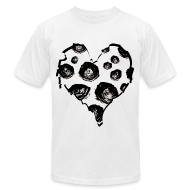 T-Shirts ~ Men's T-Shirt by American Apparel ~ Mens Rose Heart Street Style Fashion T-Shirt