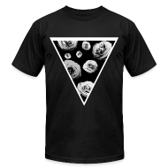 T-Shirts ~ Men's T-Shirt by American Apparel ~ Mens Rose Triangle Street Style T-Shirt