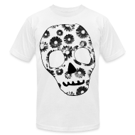 T-Shirts ~ Men's T-Shirt by American Apparel ~ Mens Style Skull Street Style T-Shirt