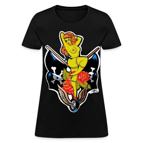 Women's Zombie Racing PinUp - Women's T-Shirt