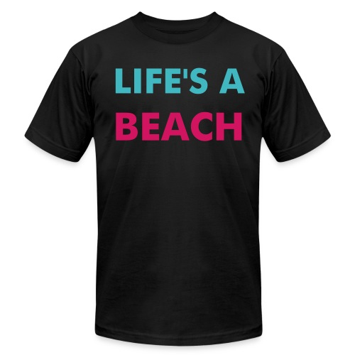 South Beach; Jersey Number on the back - Men's Fine Jersey T-Shirt