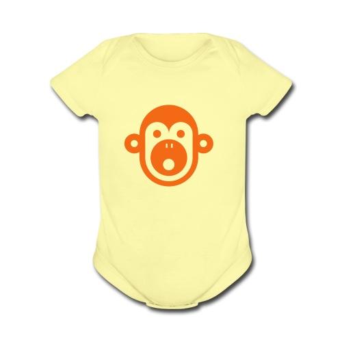 lil Monkey - Organic Short Sleeve Baby Bodysuit