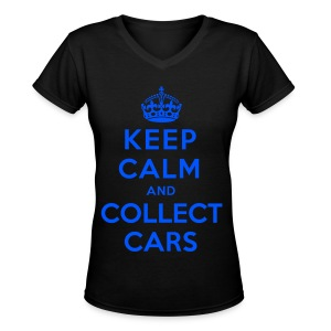 [SJ] Keep Calm & Collect Cars - Women's V-Neck T-Shirt