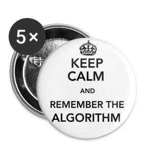 Remember the Algorithm Small Buttons - Small Buttons