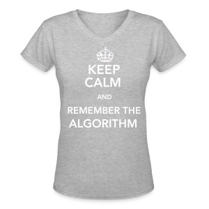 Algorithm Back and Front V-Neck - Women's V-Neck T-Shirt