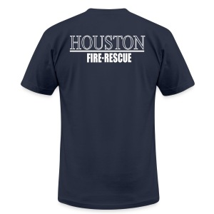 Houston Fire Rescue  - Men's T-Shirt by American Apparel