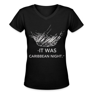 Caribbean Night Women's V-Neck - Women's V-Neck T-Shirt
