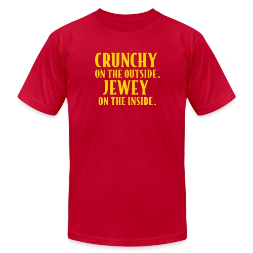 Crunchy & Jewey - Male  - Men's Fine Jersey T-Shirt