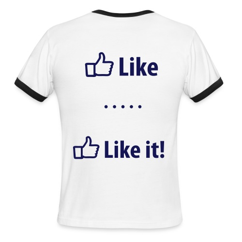 facebook LIKE  - Men's Ringer T-Shirt