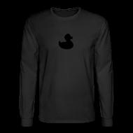 Long Sleeve Shirts ~ Men's Long Sleeve T-Shirt ~ duckie - fuzzy black on black