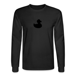 duckie - fuzzy black on black - Men's Long Sleeve T-Shirt