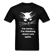 T-Shirts ~ Men's T-Shirt ~ Debbie: Thinking About Cats