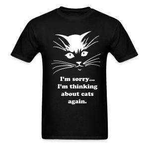 Debbie: Thinking About Cats - Men's T-Shirt