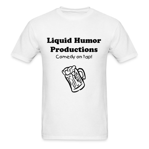 White Liquid Humor Shirt - Men's T-Shirt