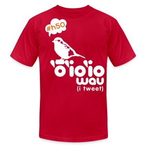 (Hawaiian) Twitter - Men's T-Shirt by American Apparel