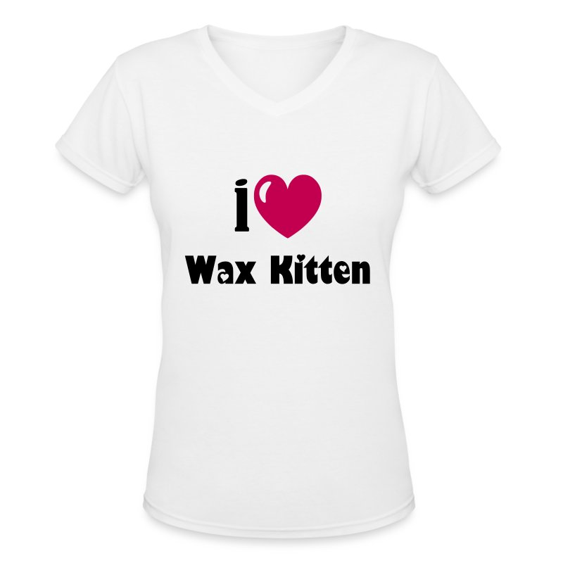 i heart - Women's V-Neck T-Shirt