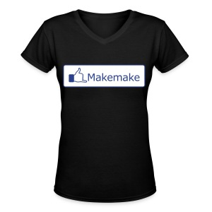 (Hawaiian) Facebook Like - Women's V-Neck T-Shirt