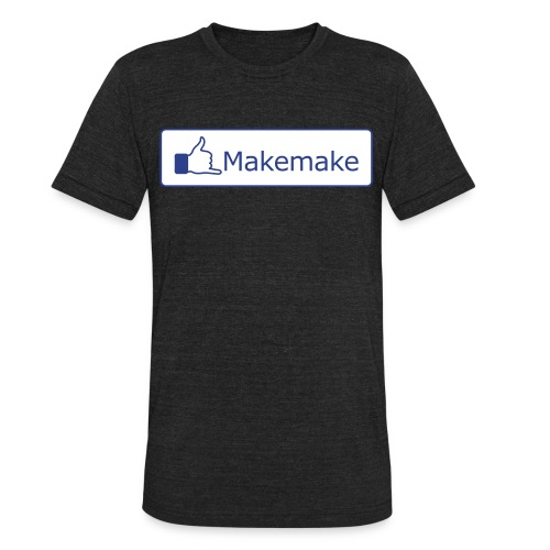 (Hawaiian) Facebook Like 3X - Unisex Tri-Blend T-Shirt