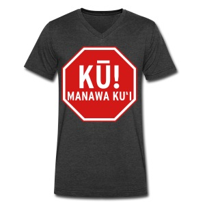 (Hawaiian) Stop! Hammer Time! - Men's V-Neck T-Shirt by Canvas