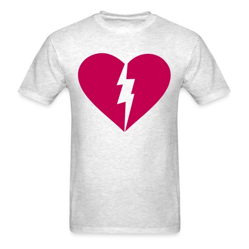 Heart and Lighting Bolt Custom Color Tee - Men's T-Shirt