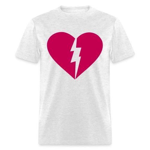 Heart and Lighting Bolt Custom Color Tee - Men's T-Shirt
