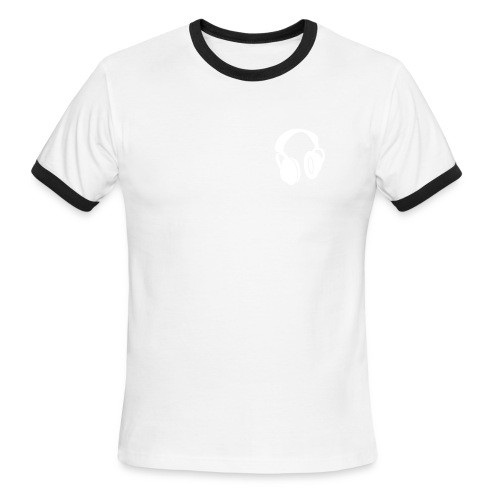 HeadphonesRinger (Red and White) - Men's Ringer T-Shirt