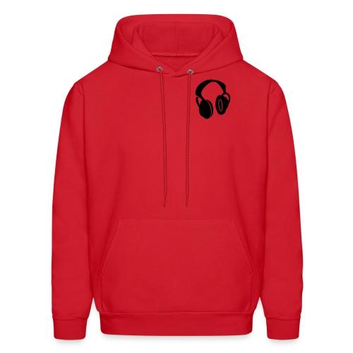 Headphones (Red and Black) - Men's Hoodie