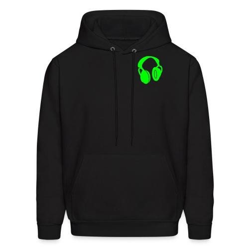Headphones (Neon Green) - Men's Hoodie