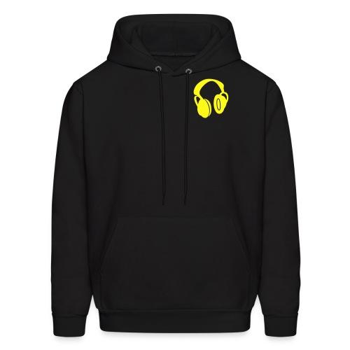 Headphones (Yellow) - Men's Hoodie