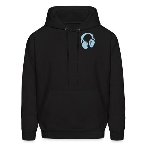 Headphones (Neon Blue) - Men's Hoodie