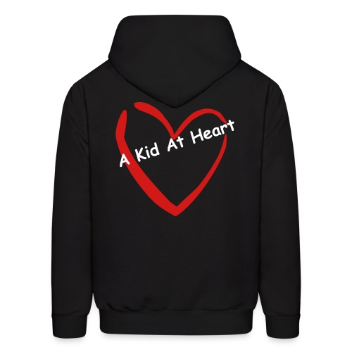 A Kid At Heart Logo Hoodie (Red and White) - Men's Hoodie