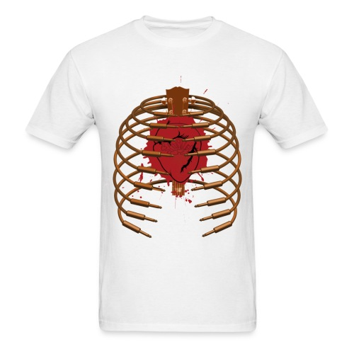 Cable Rib Cage on white - Std Shirt - Men's T-Shirt