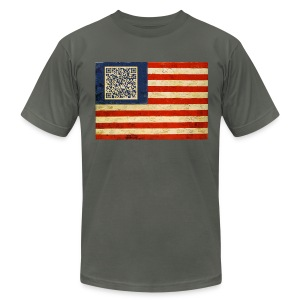 Malcom X Flag - Men's T-Shirt by American Apparel