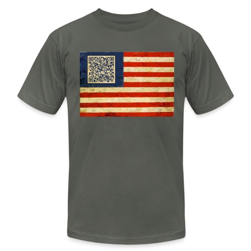Malcom X Flag - Men's Fine Jersey T-Shirt