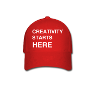 Caps ~ Baseball Cap ~ Sessions College - Creativity Starts Here, Baseball Cap - Red