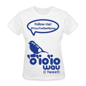 (Hawaiian) Twitter Blue Glitz - Women's T-Shirt