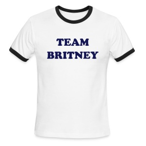 Team Britney T-Shirt Ringer Tee - Men's Ringer T-Shirt